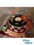 Детский торт Маквин на дороге . Доставка по Киеву и Украине