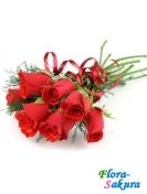 7 красных роз Одесса . Доставка по Киеву и Украине