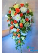 Свадебный букет Нежность . Доставка по Киеву и Украине