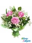 Букет розовых роз Сюзанна . Доставка по Киеву и Украине