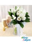 Белые тюльпаны Берта . Доставка по Киеву и Украине