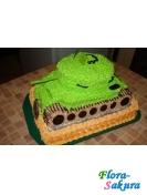 Торт на заказ Танк . Доставка по Киеву и Украине