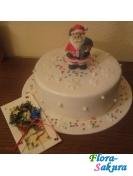Новогодний торт Дед Мороз мал. . Доставка по Киеву и Украине