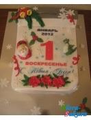 Новогодний торт Календарь . Доставка по Киеву и Украине