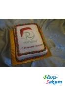 Корпоративный торт с логотипом . Доставка по Киеву и Украине