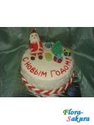 Новогодний торт Санта Клаус . Доставка по Киеву и Украине