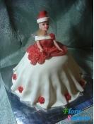 Новогодний торт Миссис Клаус . Доставка по Киеву и Украине