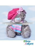 Мишка Тедди в розовом берете . Доставка по Киеву и Украине