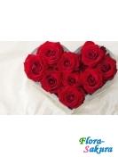 Сердце из 9 роз . Доставка по Киеву и Украине