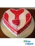 Торт Сердце-2 . Доставка по Киеву и Украине