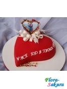 Торт Сердце-4 . Доставка по Киеву и Украине