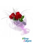 Букет красных роз Азиза . Доставка по Киеву и Украине
