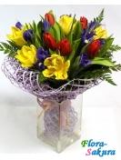 Букет цветов Летняя радуга . Доставка по Киеву и Украине