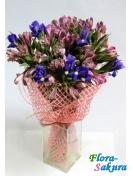 Букет цветов Розовый лед . Доставка по Киеву и Украине