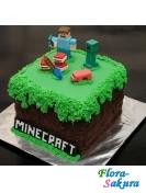 Детский торт Майнкрафт-1 . Доставка по Киеву и Украине