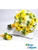 Свадебный букет 401 . Доставка по Киеву и Украине