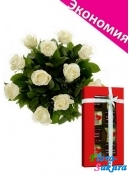 Набор шоколада + 11 роз . Доставка по Киеву и Украине