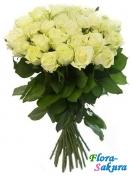 25 белых роз Мондиаль . Доставка по Киеву и Украине