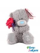Мишка Тедди с розой . Доставка по Киеву и Украине