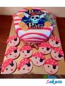 Детский торт Пираты + печенье . Доставка по Киеву и Украине