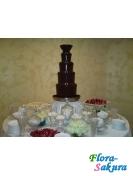 Шоколадный фонтан черный 110см . Доставка по Киеву и Украине