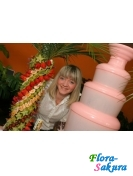 Шоколадный фонтан + фруктовая пальма . Доставка по Киеву и Украине