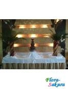 Шоколадный фонтан 70см + 2 фр. пальмы . Доставка по Киеву и Украине