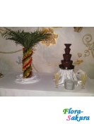 Шоколадный фонтан 70см + фрукт. пальма . Доставка по Киеву и Украине