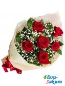 Букет красных роз Крепс . Доставка по Киеву и Украине