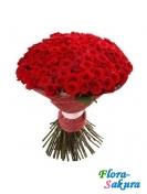 101 красная роза 80см . Доставка по Киеву и Украине