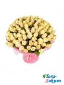 101 роза кремовая 60см . Доставка по Киеву и Украине