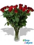 Просто розы, 19 штук . Доставка по Киеву и Украине