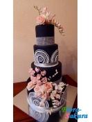 Свадебный торт Роскошный вечер . Доставка по Киеву и Украине