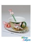 Чайная пара Орхидея . Доставка по Киеву и Украине