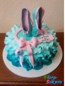 Торт для девочки Пуанты . Доставка по Киеву и Украине