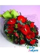 Букет цветов с антуриумом . Доставка по Киеву и Украине