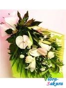 Букет цветов с лилией . Доставка по Киеву и Украине