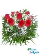Букет из 9 красных роз . Доставка по Киеву и Украине