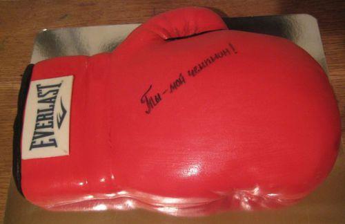 Торты боксерская перчатка фото