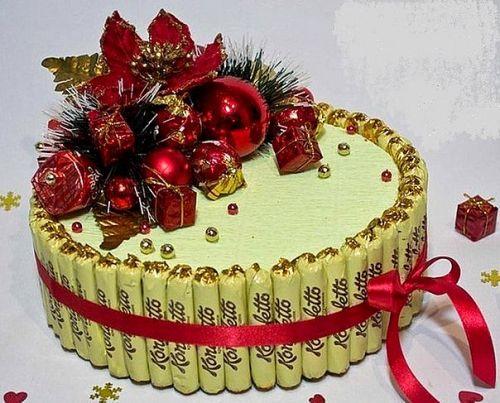 Новогодний торт из конфет своими руками мастер класс